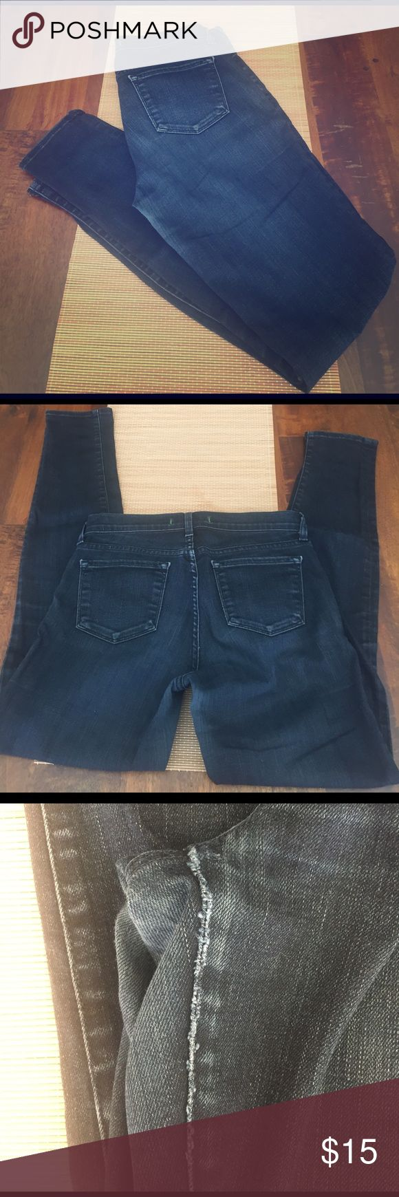 J Brand skinny jeans *Please read* Broken in J Brand skinny leg jeans in Tudor. Inseam has been sewed after a rip. Still wearable but in used condition. J Brand Jeans Skinny