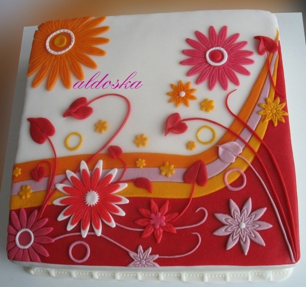 Gerbera Ornament cake