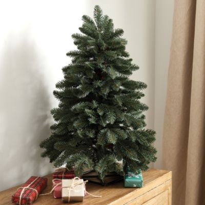 Our Miniature Noble Fir Tree is just the right size right for a kid's room or to make your guest room extra special for the holiday. It's extra full for a lush, forever green look and ready for your own lights and ornaments.