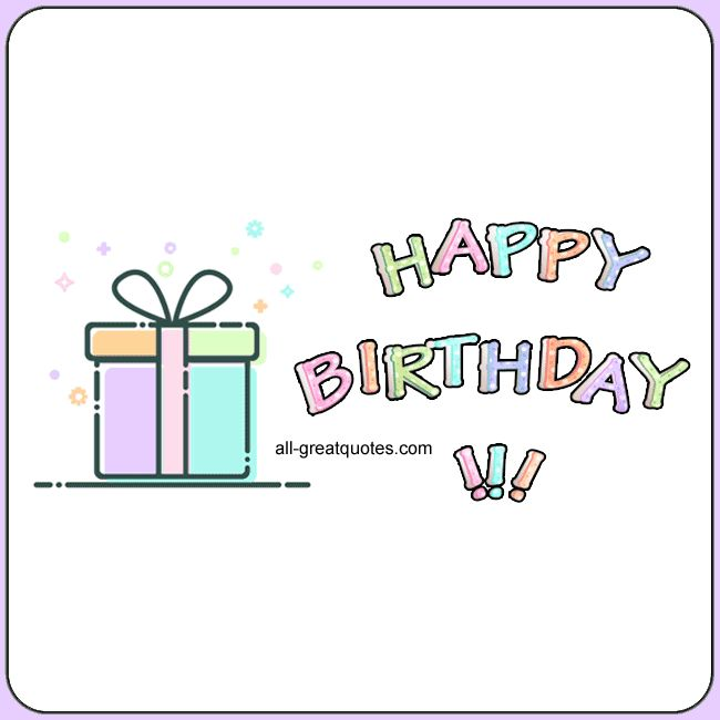 Happy Birthday | Free Share For Facebook Cute Gift Box Animated Birthday Card | all-greatquotes.com