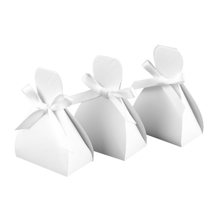 Bridal Dress Wedding Favor Box (Pack of 25)