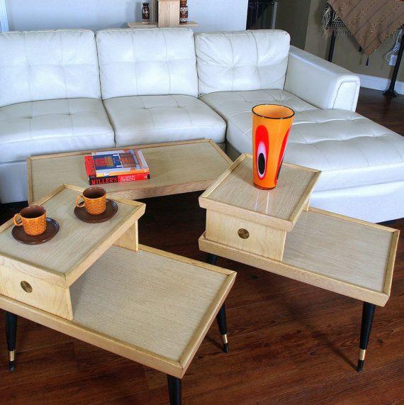 Best 50S Mid Century Furniture Vintage Retro Blonde 2 Tier 400 x 300