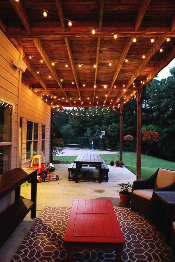32 Bright Outdoor Pavilion Lighting Fixtures Pergola Patio