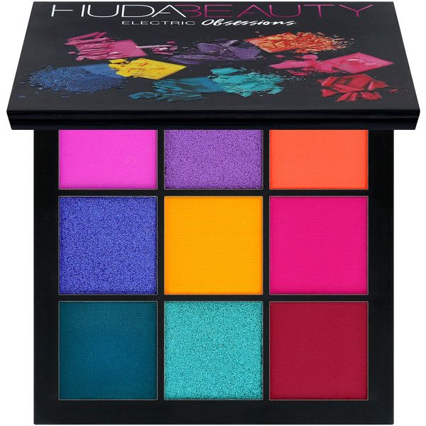 Obsessions Eyeshadow Palette Huda Beauty ($27) ❤ liked on Polyvore featuring beauty products, makeup, eye makeup, eyeshadow, huda beauty eyeshadow and palette eyeshadow