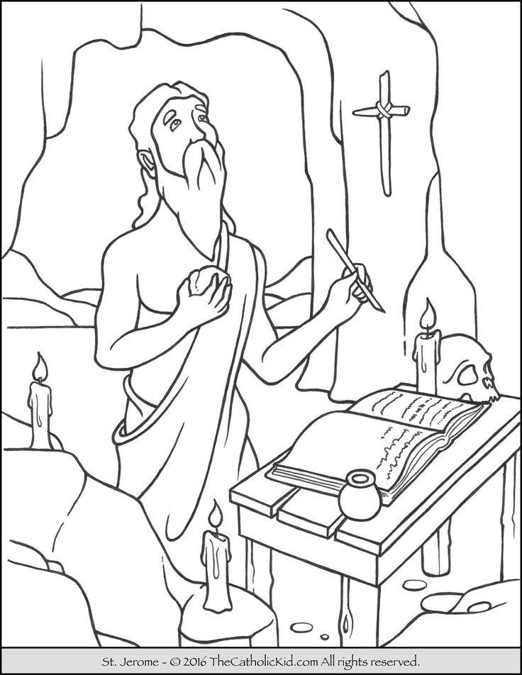 catholic coloring pages of saints - photo#18