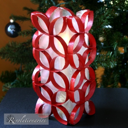 Revolutionaries: Christmas Candle Redo - toilet paper roll design - neato!
