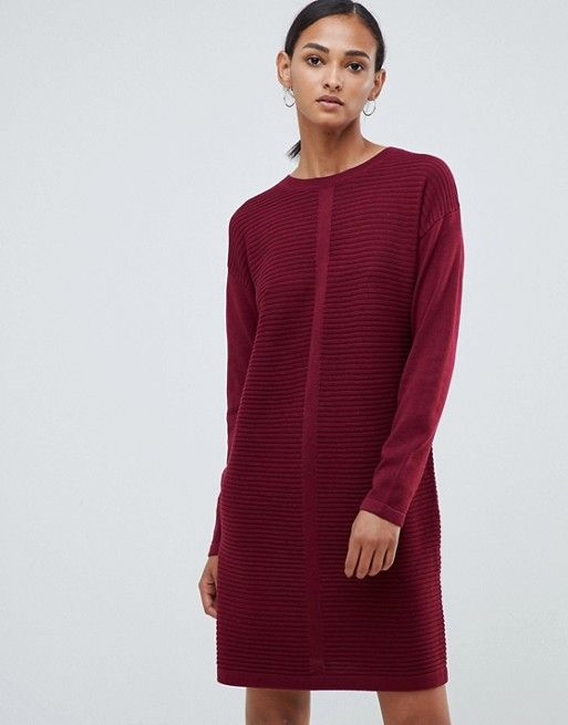 98c035357e15c DESIGN Tall eco knitted mini dress in ripple in 2019 | Dresses ...