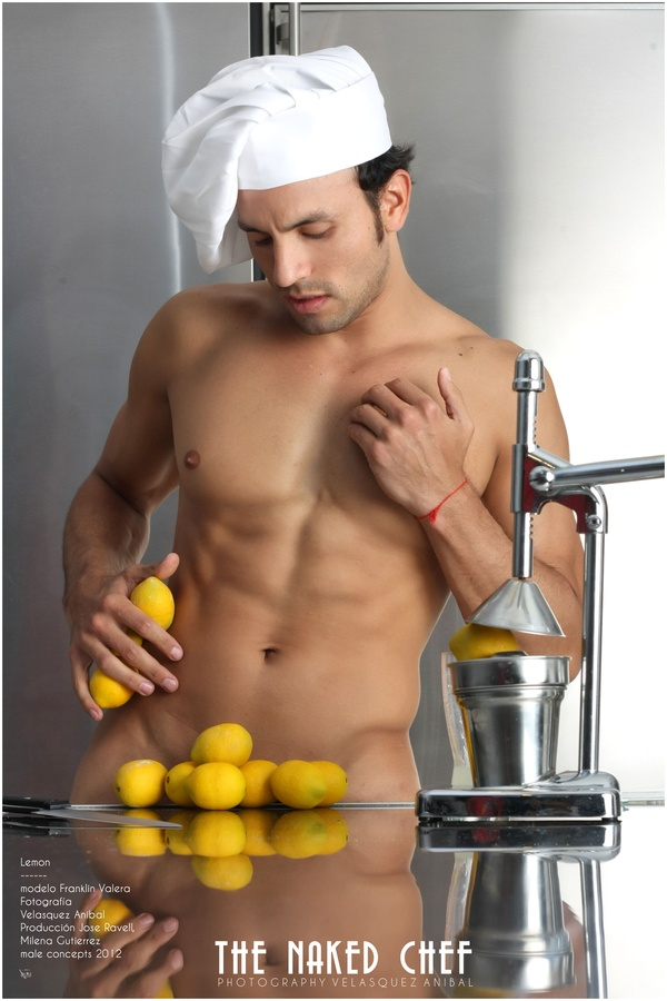 Male chef nude