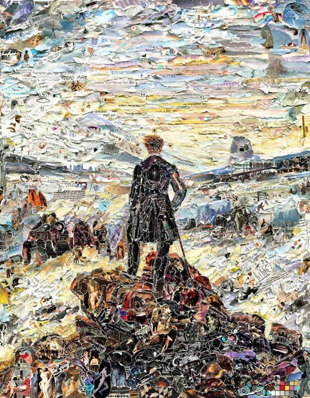 Quand l'artisteVik Munizrecrée leschefs-d'œuvre de la peinture classique avec des collages réalisés à partir de milliers de petits morceaux de papier