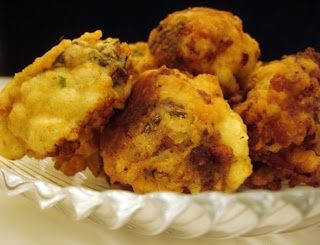 Great Libyan food: Fried Cauliflower with a Cumin Batter and Minced-Meat Filling - Mba..., ,