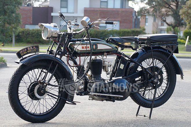 BSA Colonial 'Flat Tank' 500cc Motorcycle