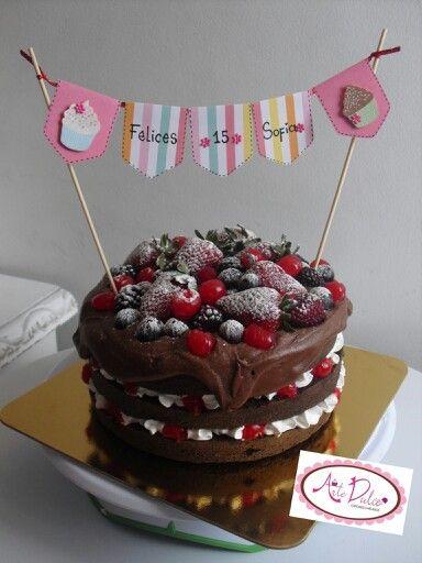 Naked cakes, chocolate ganache, frutos rojos