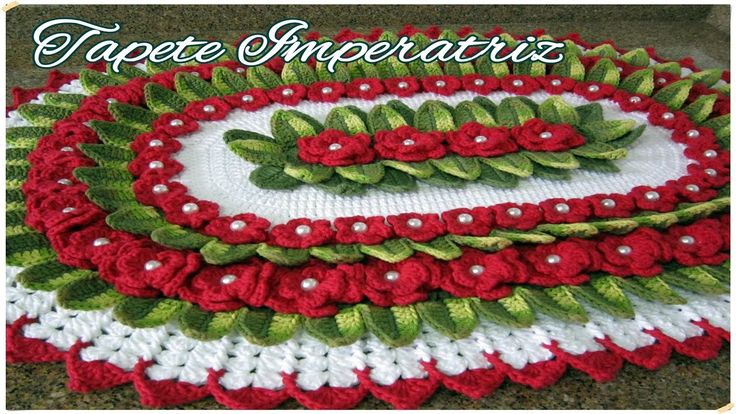 "Tapete Imperatriz - ""Marcia Rezende - Arte em Crochê"" - 1/3"