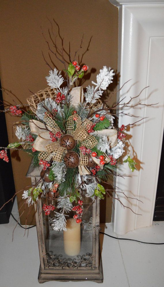 This is a amazing rustic Tree Topper, It has birch that makes this Rustic Tree Topper a wonderful unusual Christmas Tree Topper. You could use this as a Lantern Swag as shown on the above pictured. This is shown on my Porch lantern which is 28 tall. I got this look by using three