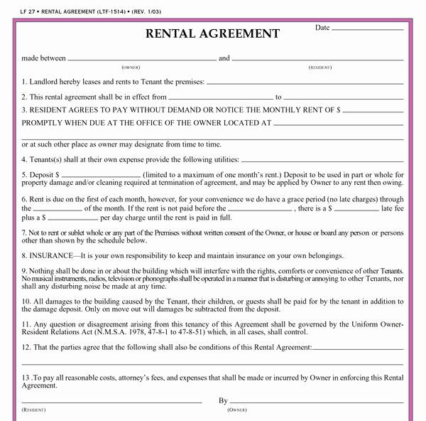 Residential Rental Agreement Form Best Of Residential Lease Agreement Template Rental Agreement Templates Lease Agreement Free Printable Lease Agreement