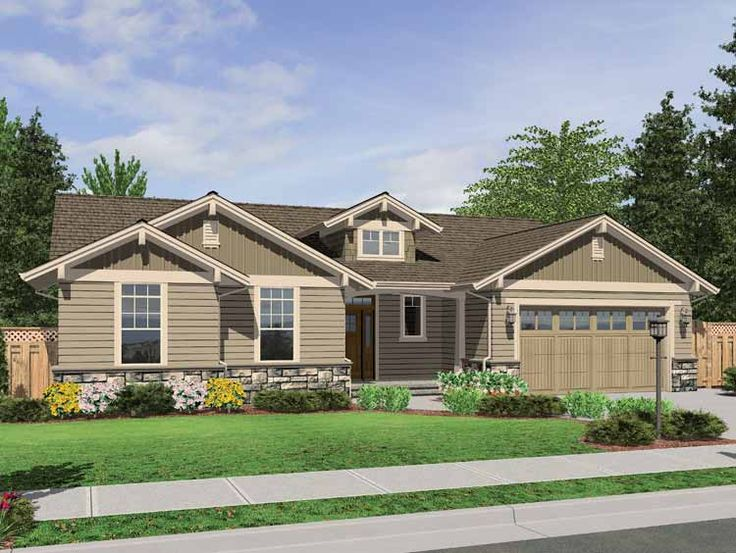 The Avondale Craftsman Style Ranch House Plan With Stone Accents Homes