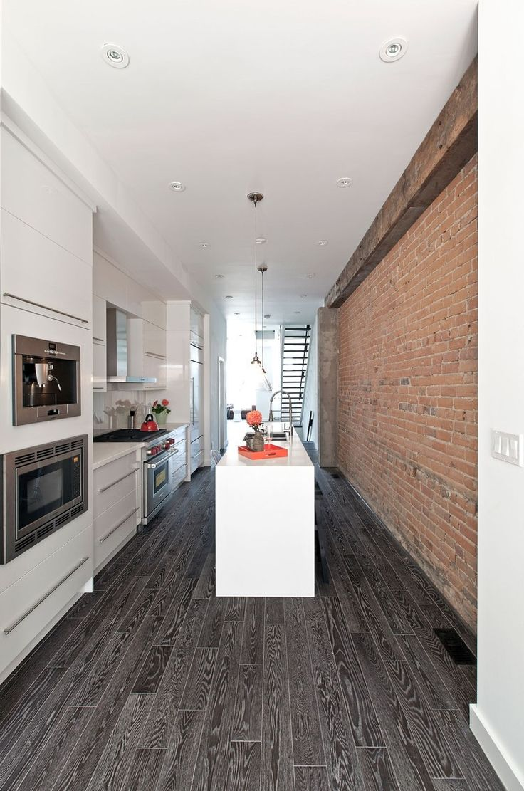 Cosmo condo kitchen showroom paris kitchens toronto - Cool Modern Renovation Of Lady Peel House By Rzlbd Cool Modern Renovation Of Lady Peel House By Rzlbd With Kitchen Brick Wall And White Ta