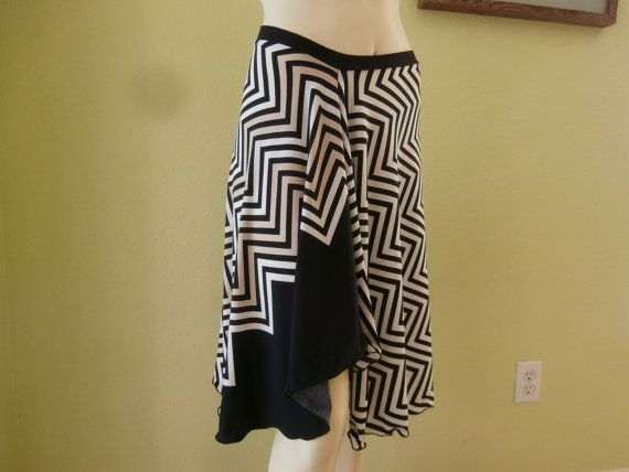 Argentinian Tango & Salsa  Skirt Size fits US 8 by COCOsDANCEWEAR