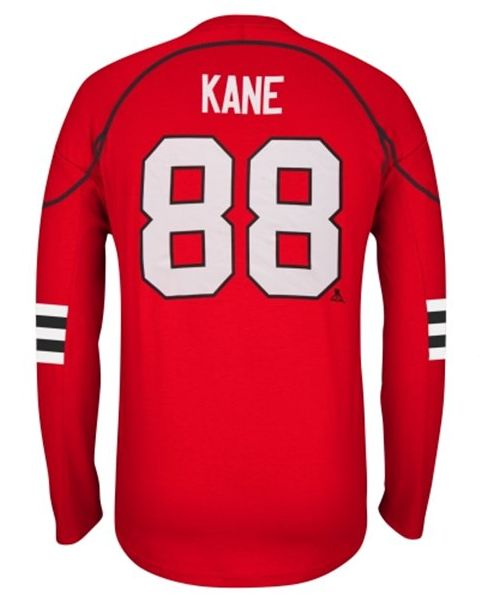 Reebok Patrick Kane Chicago Blackhawks Red Edge Long Sleeve Jersey T-Shirt
