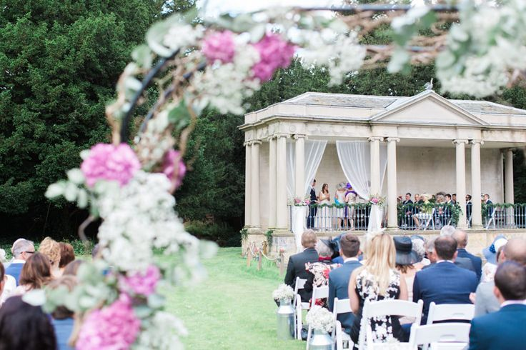 Image by Samantha Ward Photography - Bespoke Jane Elmer Wedding Gown | Scampston Hall Yorkshire | Vera Wang Grey Bridesmaid Dresses | Outdoor Ceremony | Marquee Reception | Samantha Ward Photography | www.rockmywedding...