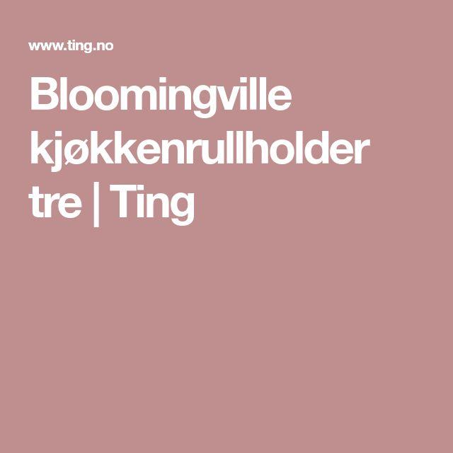 Bloomingville kjøkkenrullholder tre   Ting
