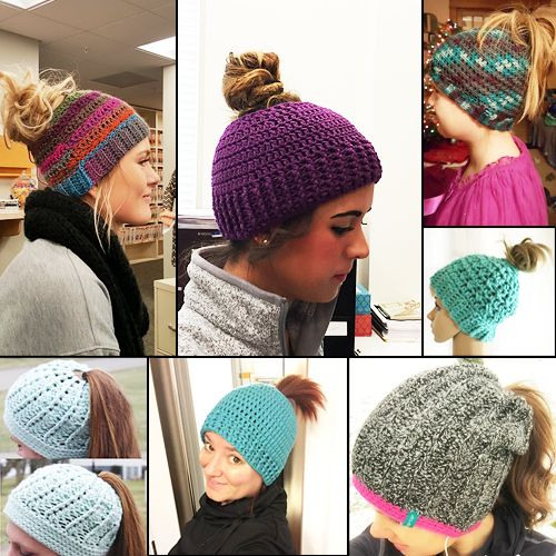 Crochet Patterns Ponytail Hats : ... Crochet Hats on Pinterest Crocheting, Crochet Patterns and Hat