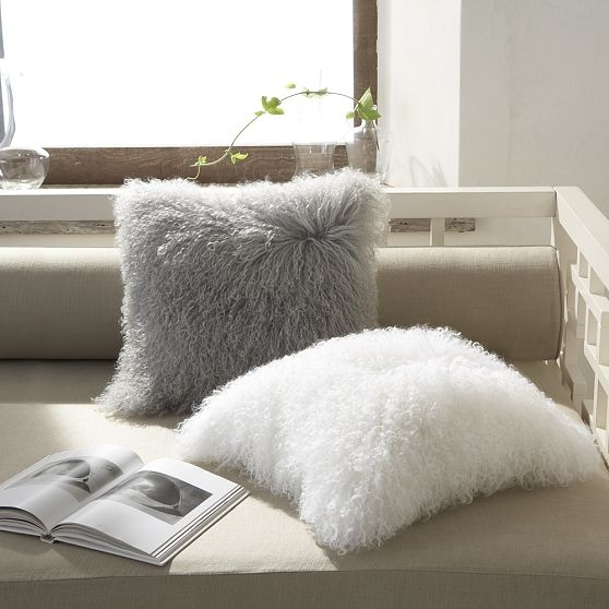 mongolian lamb pillow cover style at home