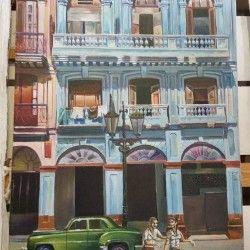 La arquitectura del Habana! Vacker handmålad arkitektur tavla på gamla Havanna, Kuba. Staden är känd för sina vackra, färgfulla och unika byggnader. Länk till produkt: http://www.feelhome.se/produkt/la-arquitectura-del-habana/  #Homedecoration #Canvas #olipainting #art #interior #design #Painting #handpainted #Walldecor #väggdekor #interiordesign #canvastavla #canvastavlor #cuba #kuba #street #car #havana #Vardagsrum #Kontor #Abstrakt #Modernt #hus #byggnader #stad #huvudstad