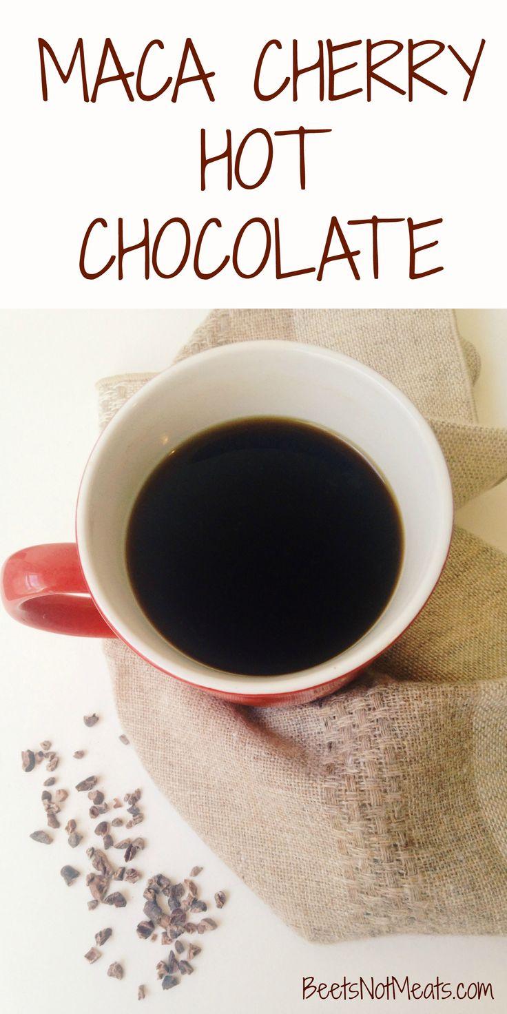 Vegan, dairy-free Maca Cherry Hot Chocolate