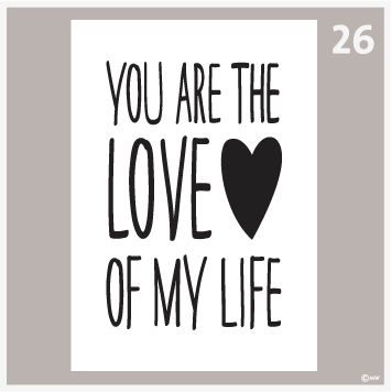 Tekstposter-You are the love 26