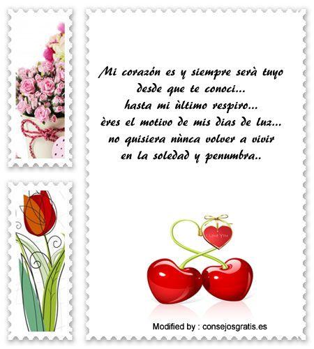 textos bonitos de amor para enviar a mi novio por whatsapp,enviar mensajes de amor para mi novio con imàgenes : http://www.consejosgratis.es/mensajes-de-amor/