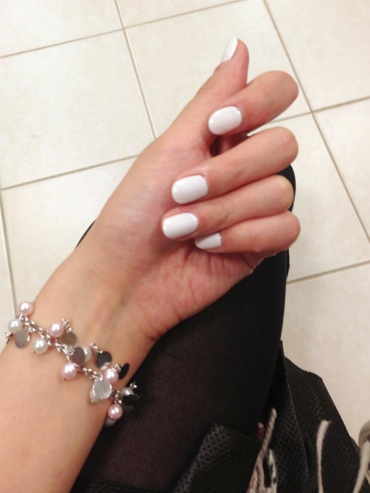 White Shellac Nail