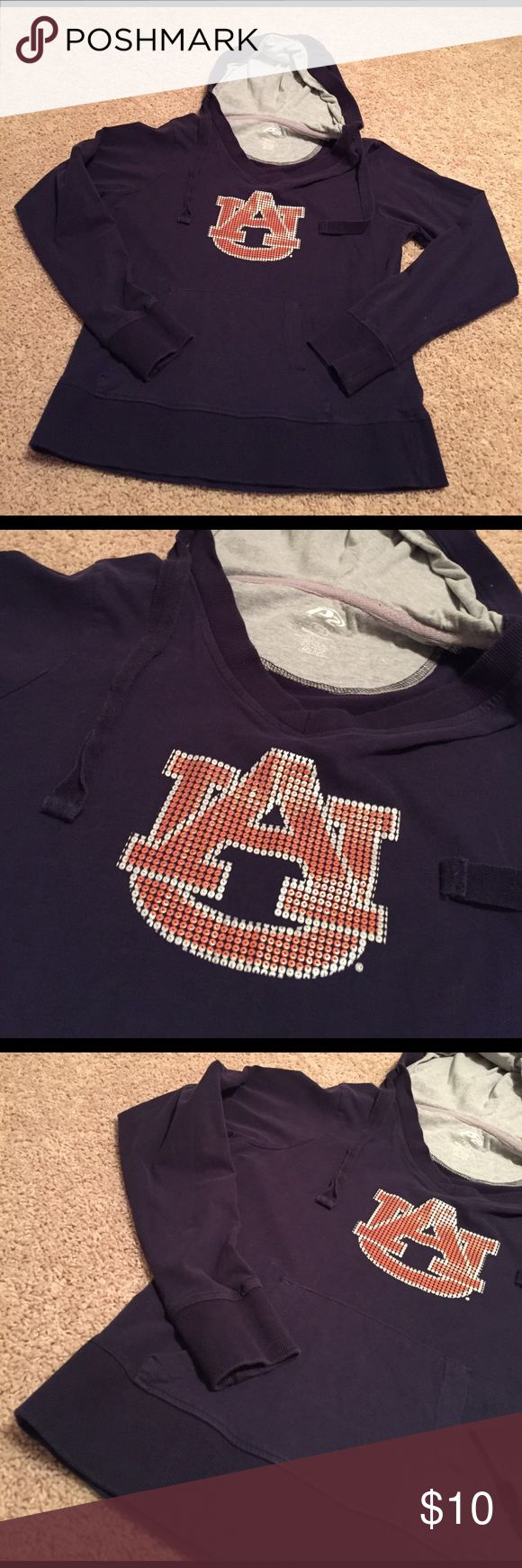 Auburn Navy Lightweight Hoodie! 💙 Auburn Navy Lightweight Hoodie! 💙 Size: Ladies 8/10! Worn several times but still in great condition!! Very warm and extremely comfortable!!! 100% cotton! P2 Tops Sweatshirts & Hoodies