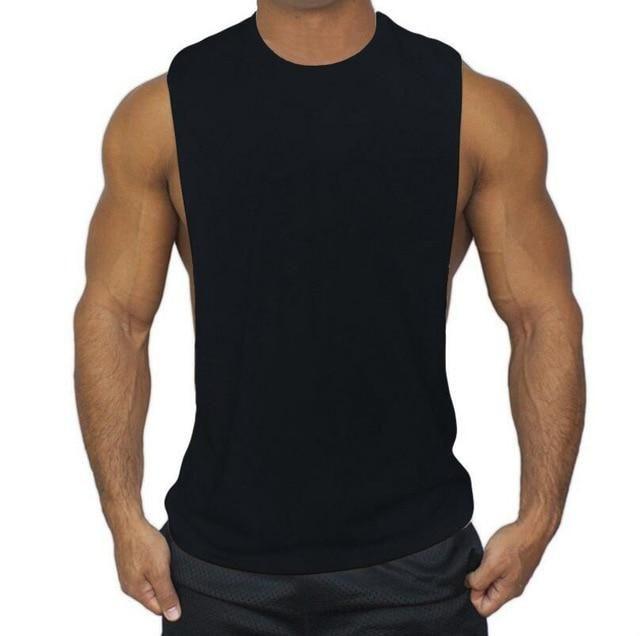 Fashion Men Summer Loose Sport Hooded Vest Shirt Sleeveless Fitness Jogging Tops