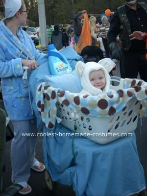 Coolest Homemade Snuggle Bear in Laundry Basket Baby Costume
