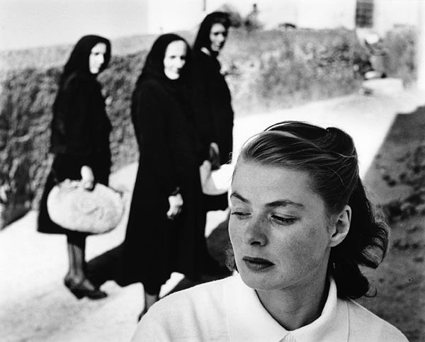 Gordon Parks: Ingrid Bergman at the Italian island of Stromboli, 1949. Gelatin silver print, Stanford University.