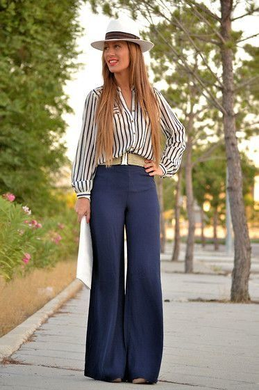 PAIR YOUR PLAIN PALAZZO WITH BLACK N WHITE SHIRT AND AN WHITE ENVELOPE CLUTCH...ADD SOME STYLE WHITE WHITE HAT AND A COOL BELT... #SUMMER #BEAUTY #GO SEXY..