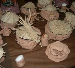 crafts African Houses kindergarten