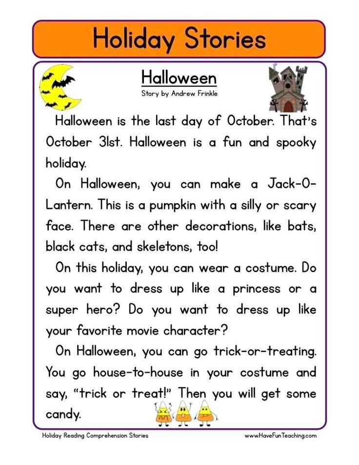 halloween reading worksheets reading comprehension ...