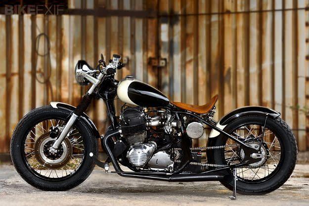 Good base bike, bobber style, tear drop tank. Honda CB750 bobber