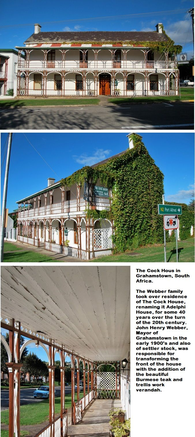 The Cock House in Grahamstown, South Africa