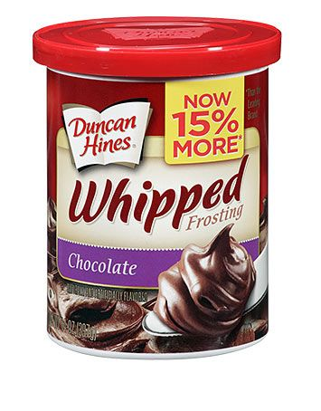 Duncan Hines Whipped Chocolate Frosting: 2 grams trans fat per serving (3 tbsp)