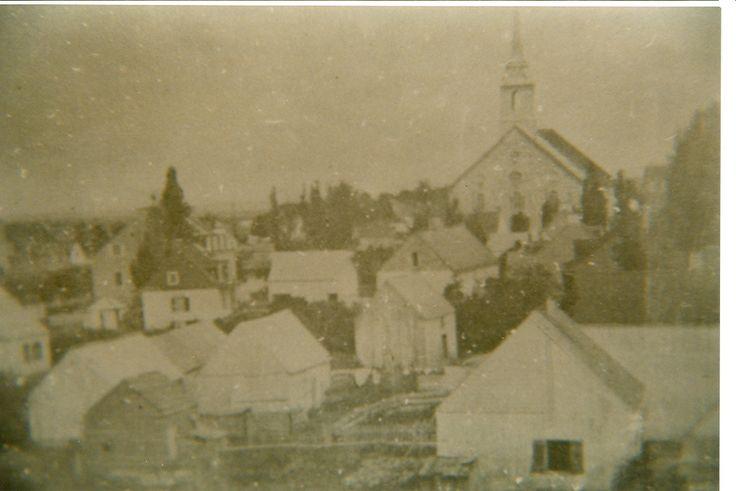 Le cœur de Saint-Thomas | Village de Saint-Thomas avant 1855. On y voit la maison de la famille Taché à gauche.