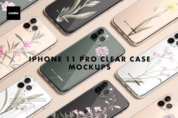 Download Iphone 11 Pro Clear Case Mockup Set Iphone Clear Cases Iphone 11