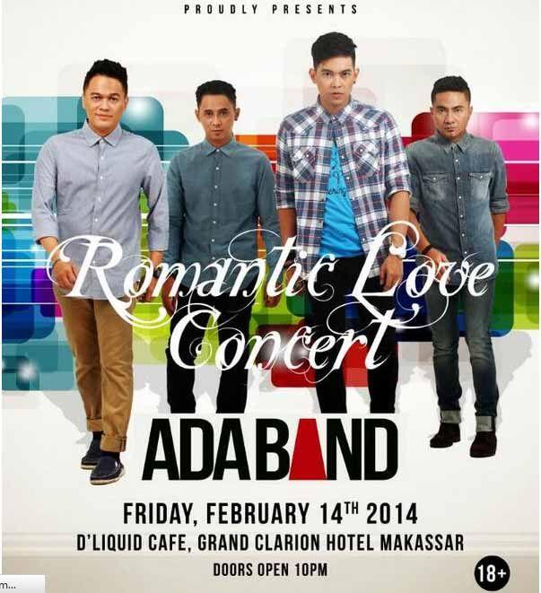 """Valentine bingung mau kemana ? dateng aja ke acara """"Romantic Love Concert"""" with @ADA_INDONESIA   Makassar  14 Feb '14"""