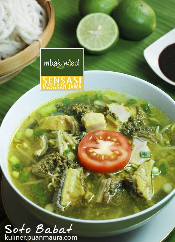 Resep Soto Babat - Salah satu kekayaan kuliner Indonesia