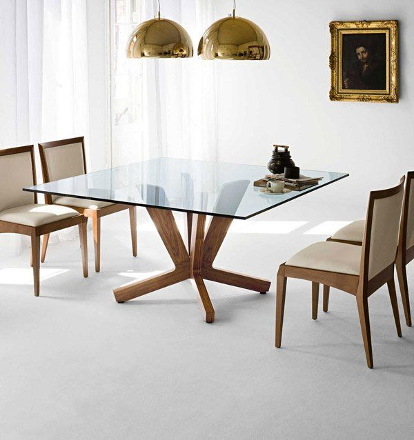 15 Shimmering Square Gl Dining Room Tables