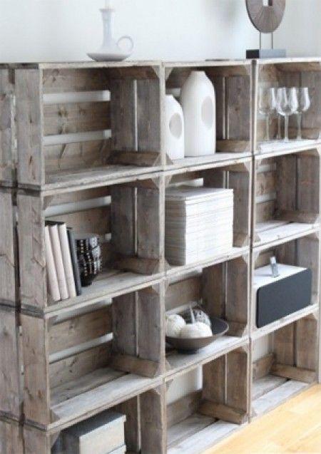 Leuk om hier een boekenkast van te maken. Door Roos1990