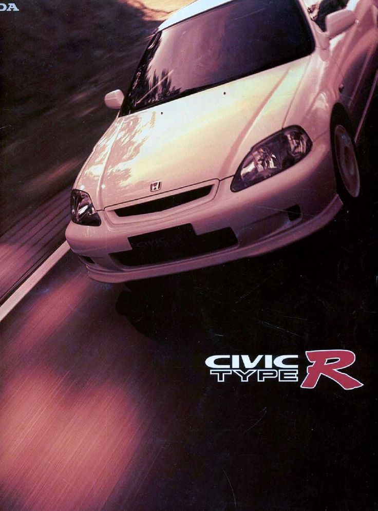 Honda Civic Mk6 Type R Japan Brochure 1999                                                                                                                                                                                 Mais