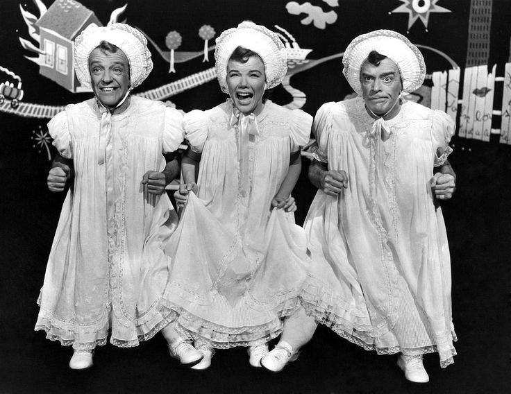 "One of today's b'day celebrants  Nanette Fabray, Fred Astaire & Jack Buchanan in that cute song sequence ""Triplets"" they did in The Band Wagon (1953) --"